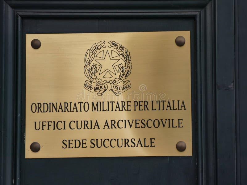 Militär Ordinariate av Italien royaltyfria bilder