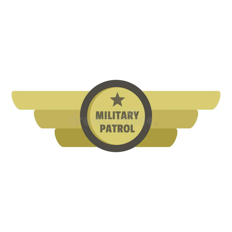 Militär patrullsymbolslogo, lägenhetstil stock illustrationer