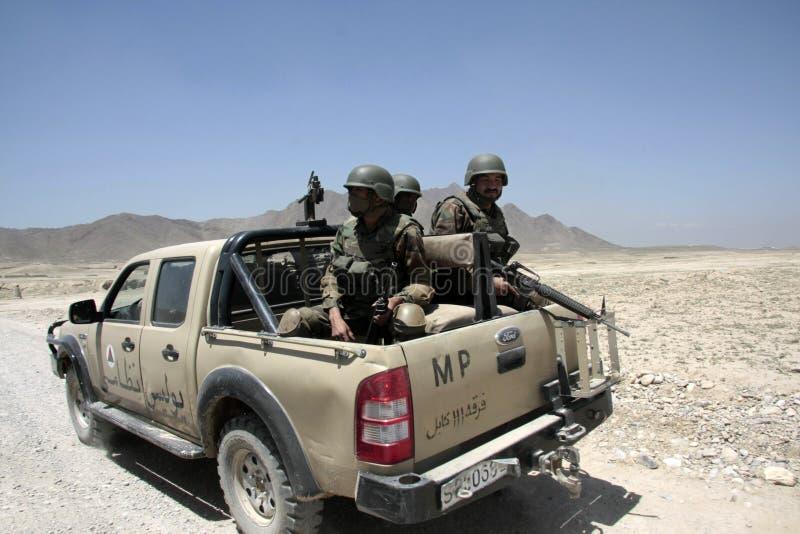 militär polis för afghan armé royaltyfria bilder