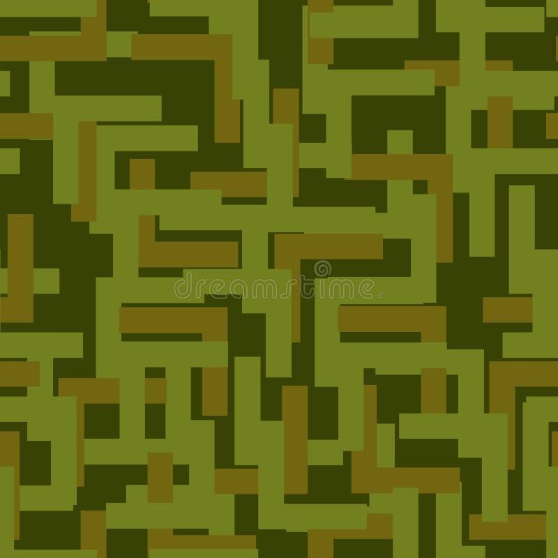 Militär sömlös modell Arméabstrakt begrepptextur orange kamouflage royaltyfri illustrationer