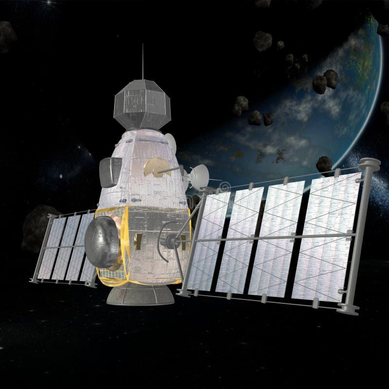 militär satellit stock illustrationer