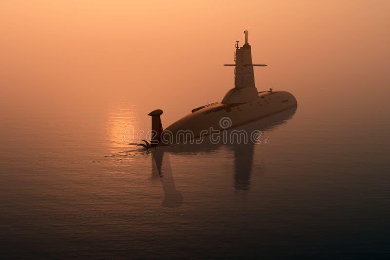 militär ship stock illustrationer
