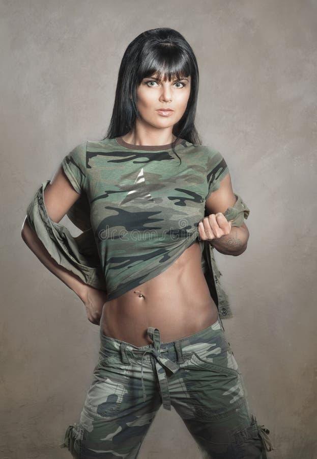 Militär stil royaltyfri fotografi