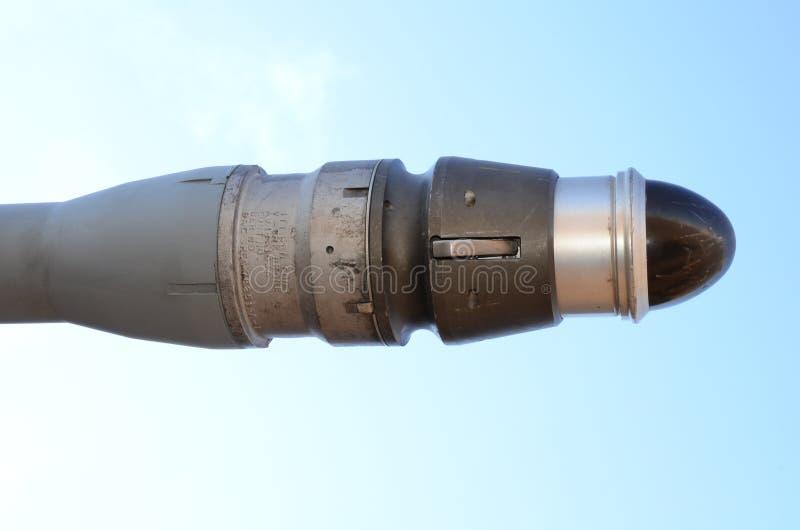 Militär stråle som tankar sonden Tanka med flygflyg fotografering för bildbyråer