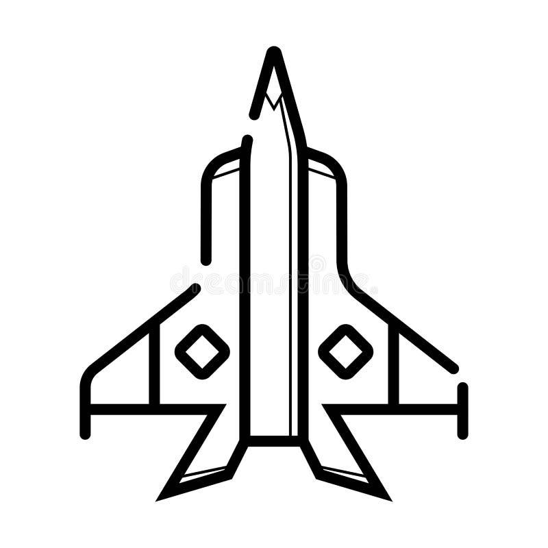 Militär teckning för strålflygplan vektor illustrationer