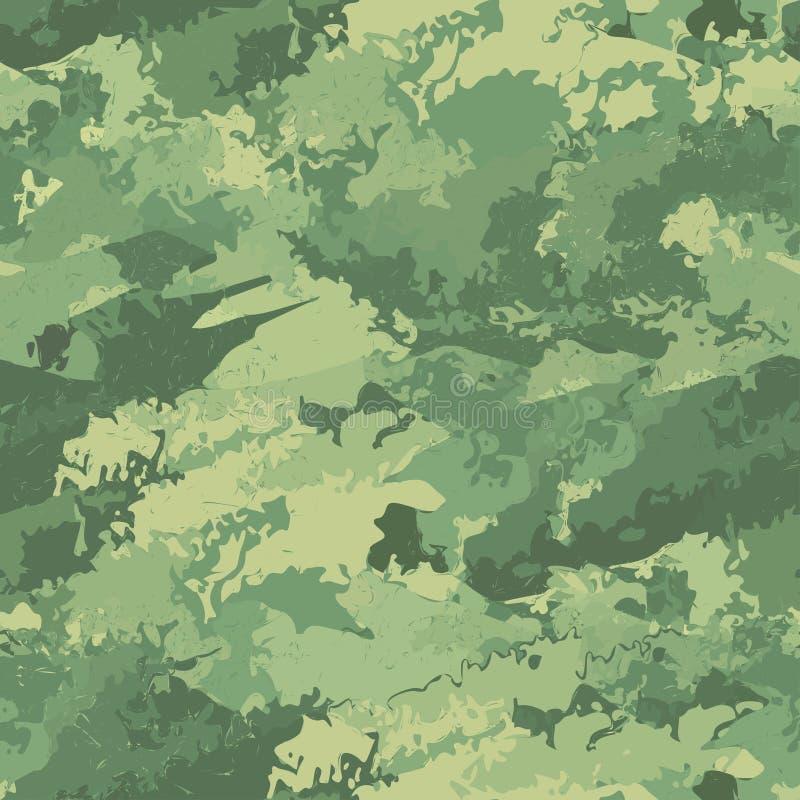 Militär torkduk för sömlös kamouflage av infanteri abstrakt bakgrund också vektor för coreldrawillustration stock illustrationer