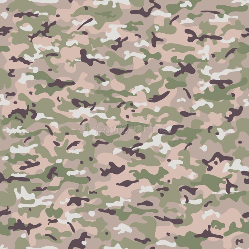 Militär torkduk för sömlös kamouflage av infanteri abstrakt bakgrund också vektor för coreldrawillustration royaltyfri illustrationer