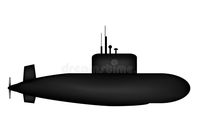 Militär ubåt vektor illustrationer