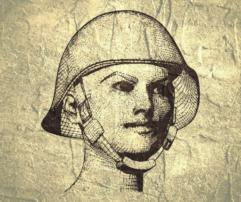 militär uniform kvinna stock illustrationer