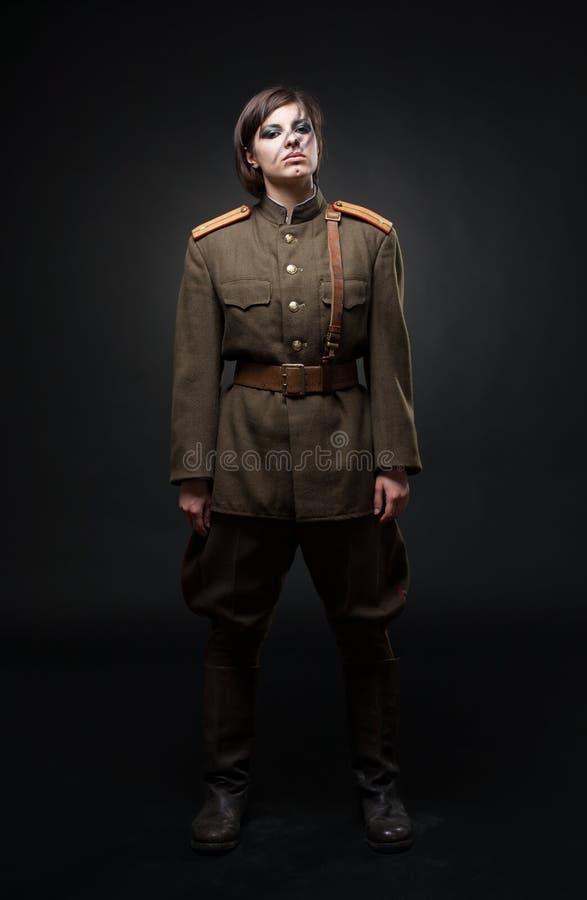 militär uniform kvinna arkivfoton