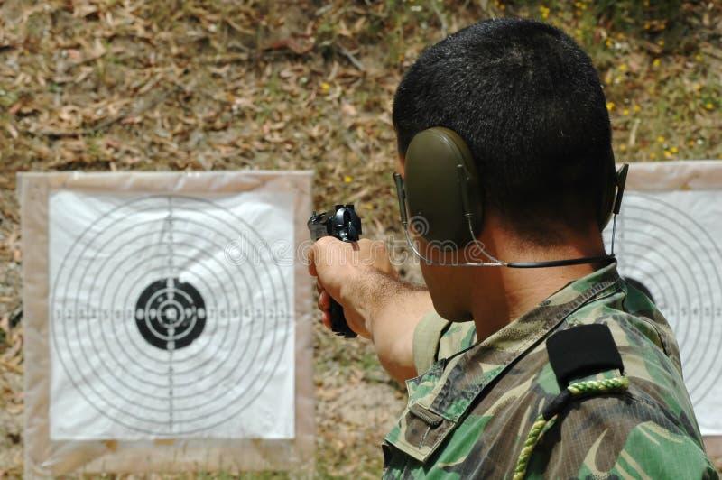 militär utbildning för strid royaltyfria foton