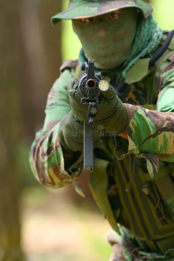 militär utbildning för strid royaltyfria bilder