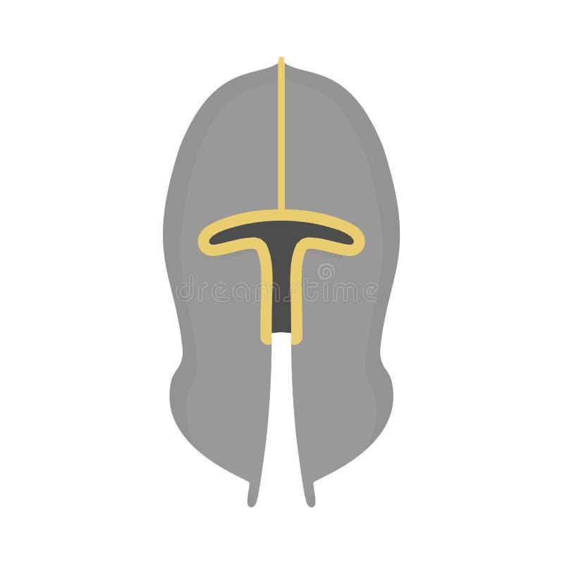 Militär utrustning för tecken för svart för symbol för hjälmkrigareharnesk Symbol för vektor för ammunitionar för maskering för f vektor illustrationer