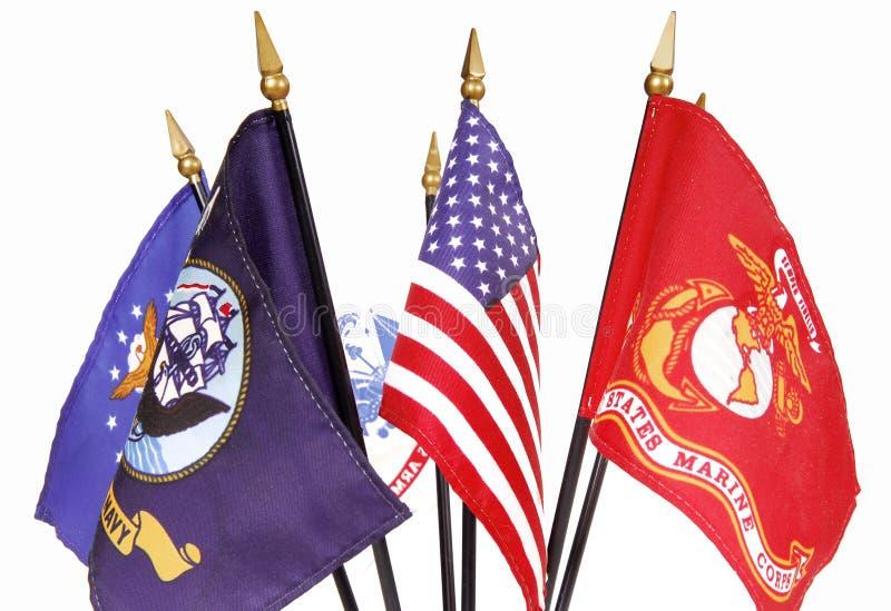 militära amerikanska flaggan arkivfoto
