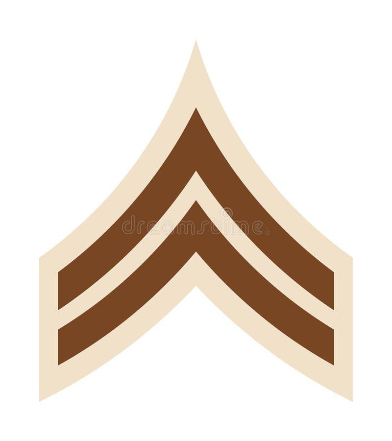 Militära ranger och gradbeteckning Band och sparrar av armén royaltyfri illustrationer