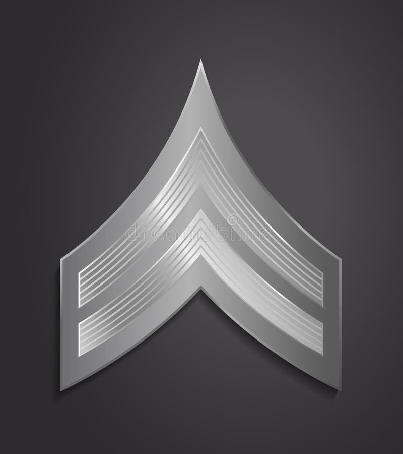 Militära ranger och gradbeteckning Band och sparrar av armén vektor illustrationer