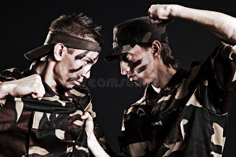 militära rivaler arkivfoto
