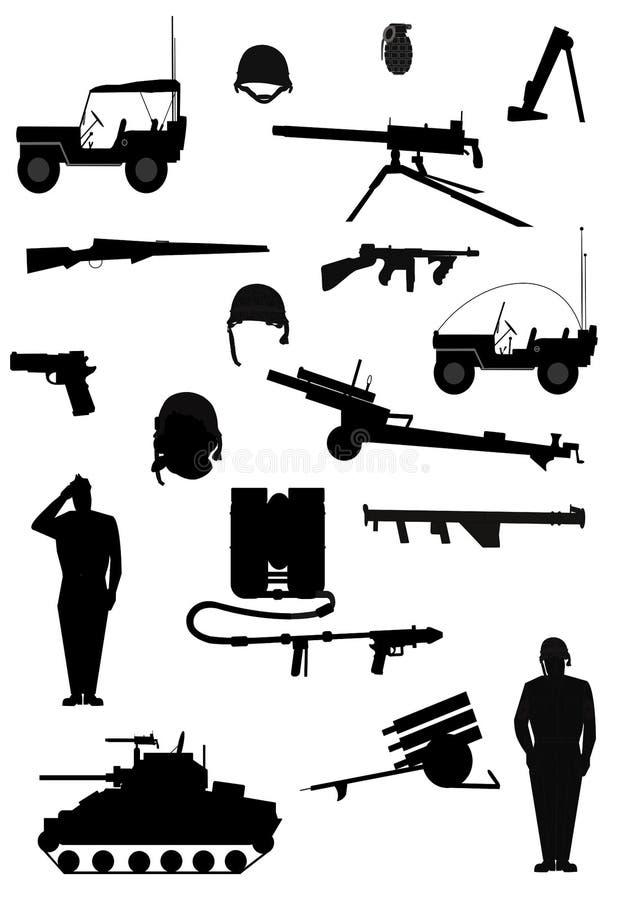Militära rustningar vektor illustrationer