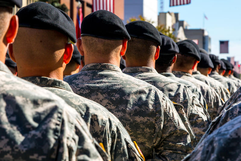 Militära soldater arkivfoto