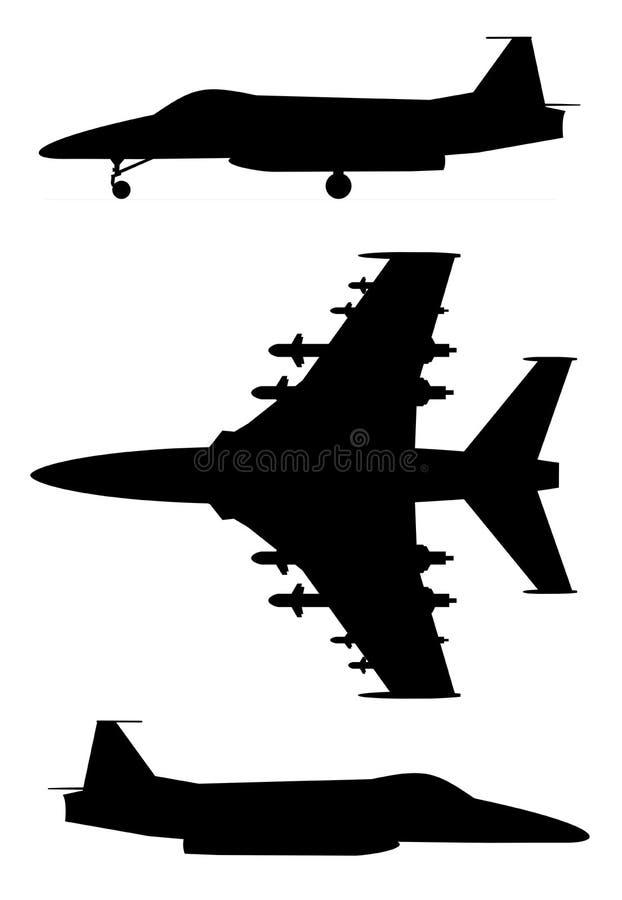 Militärdüsenflugzeug lizenzfreie abbildung