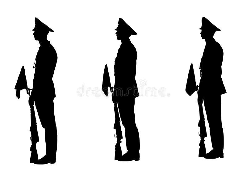 militären ståtar stock illustrationer