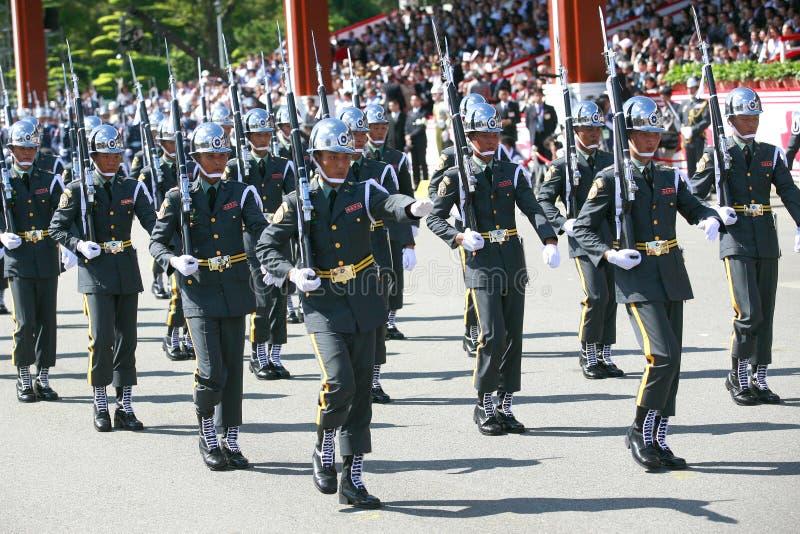 militären ståtar taiwan royaltyfri bild