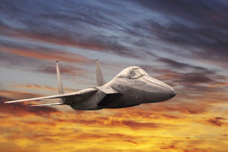 Militärflugzeug lizenzfreies stockbild