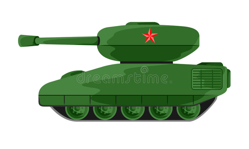 Militärfordon stock illustrationer