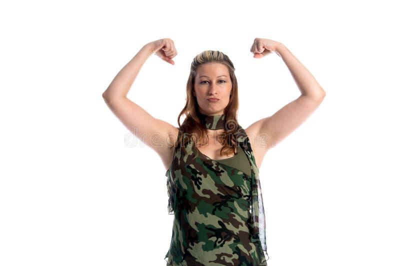 Militärfrau stockfotografie