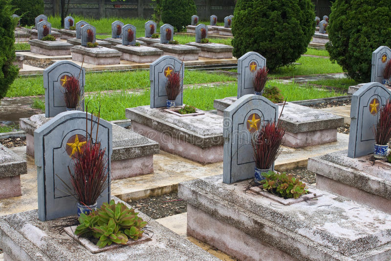 Militärfriedhof stockfoto