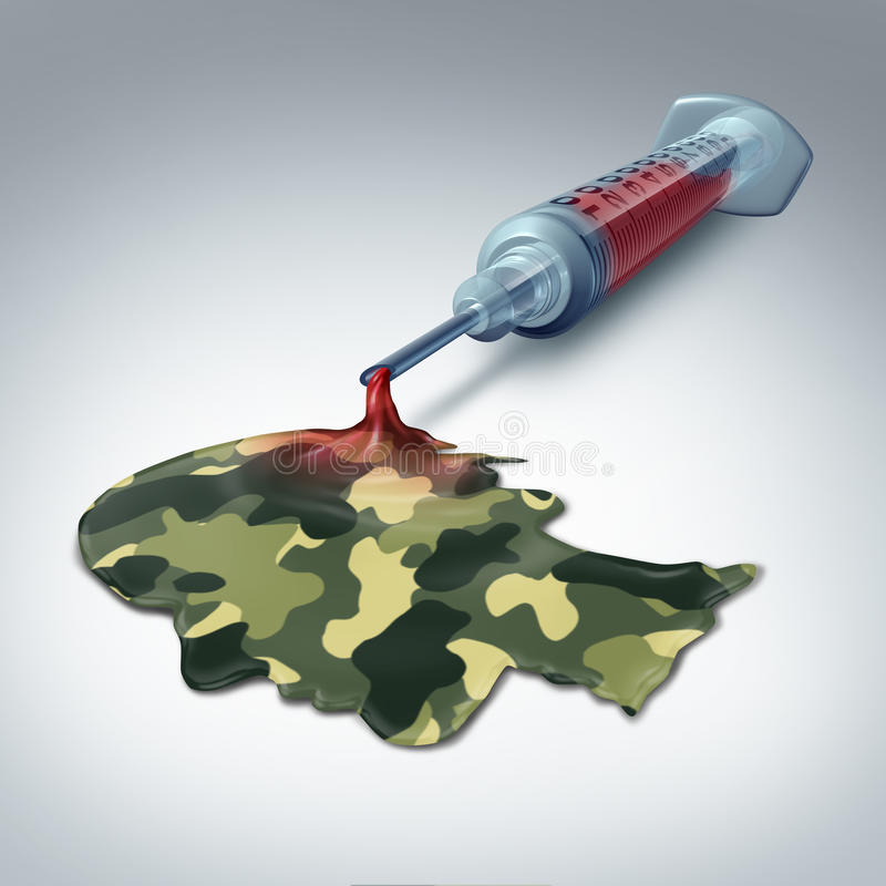 Militärgesundheitswesen lizenzfreie abbildung
