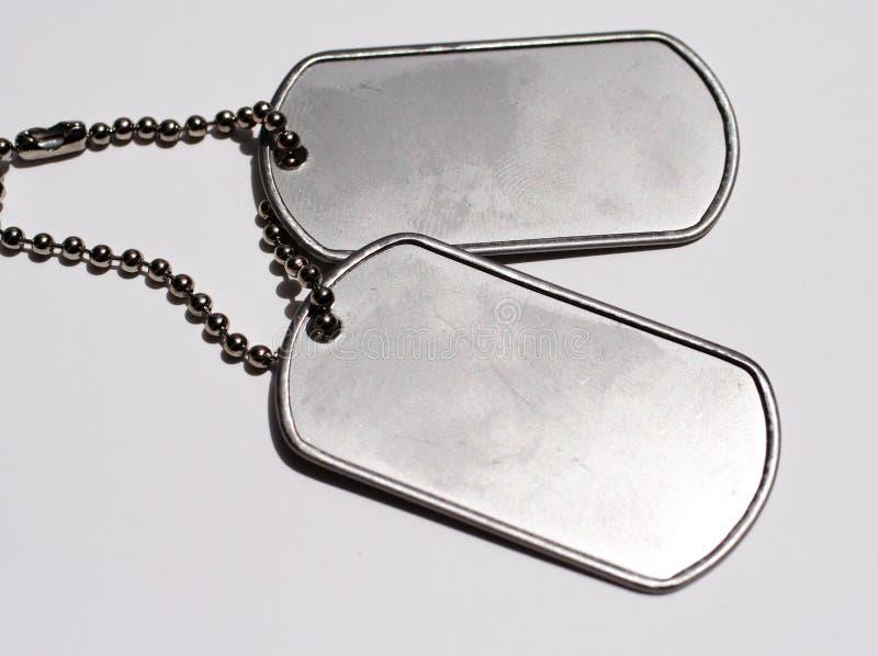 Militärhundeplaketten stockbilder