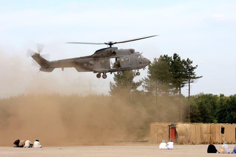 Militärische Operation durch die königliche niederländische Armee stockfoto