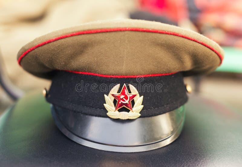 Militärkappe UDSSR-Soldat lizenzfreie stockbilder