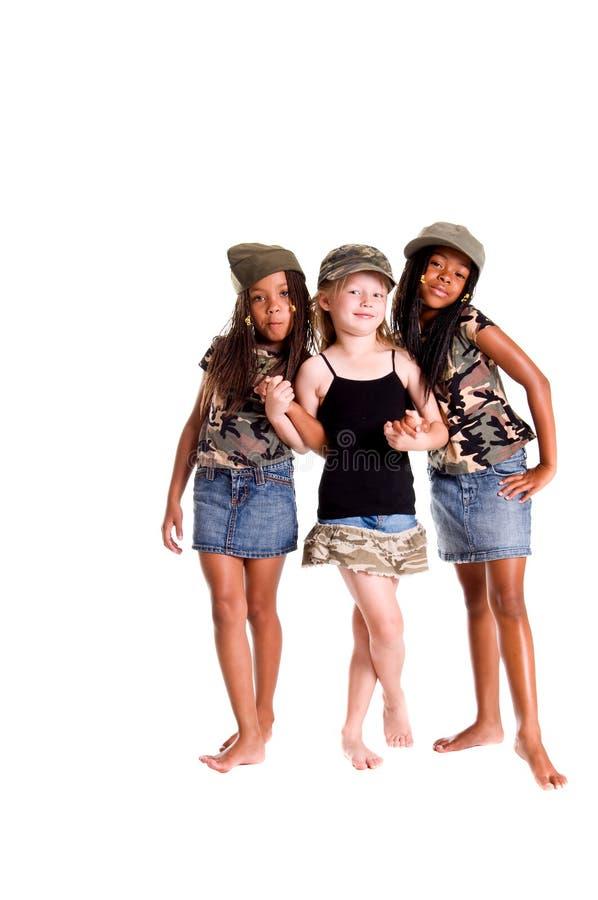 Militärkinder für Frieden lizenzfreie stockfotografie