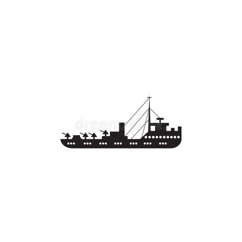 Militärkreuzerikone Element der Schiffsillustration Erstklassige Qualitätsgrafikdesignikone Zeichen und Symbolsammlungsikone für  lizenzfreie abbildung