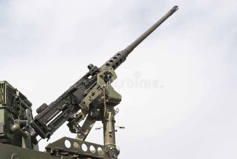 Militärmaschinengewehr stockbild
