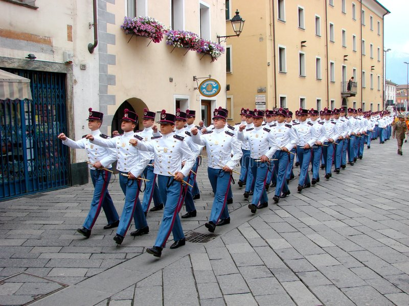Militärparade stockfoto