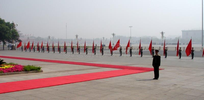 Militärparade in Peking stockbilder
