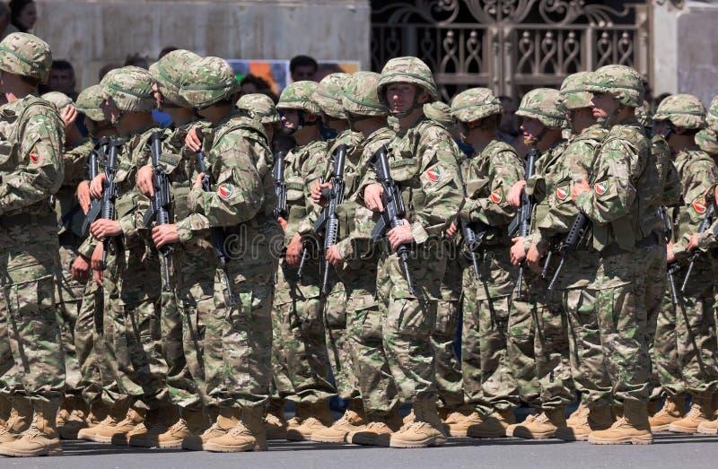 Militärparade. Tbilisi, Georgia. stockfotografie