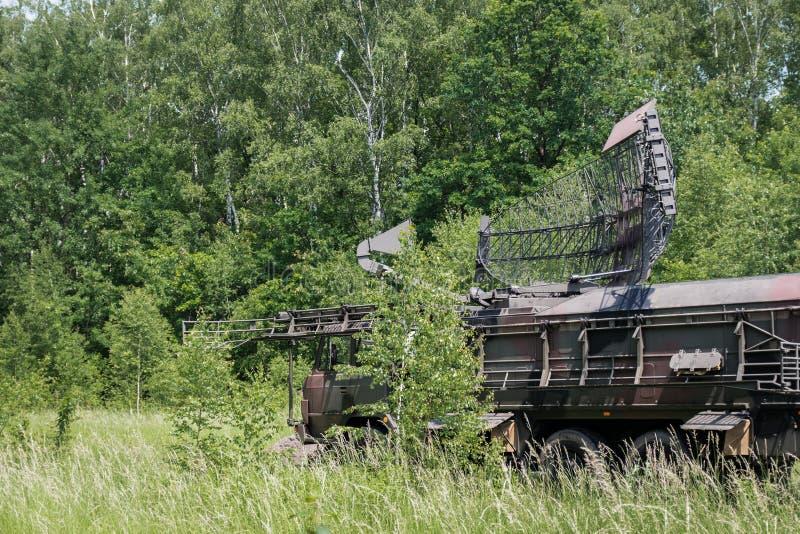 Militärradarstation stockbilder