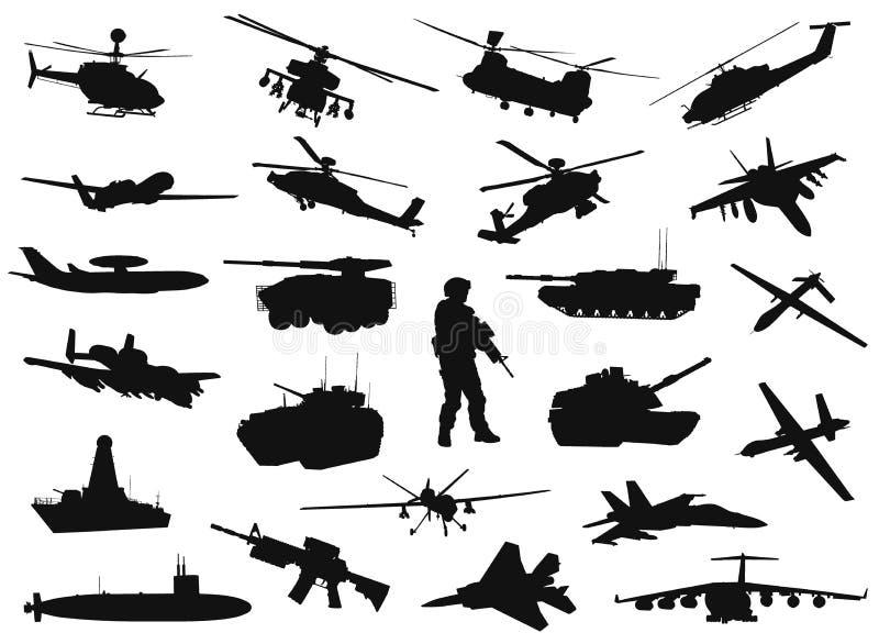 Militärschattenbilder vektor abbildung
