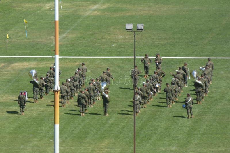 Militärschulband stockfotografie
