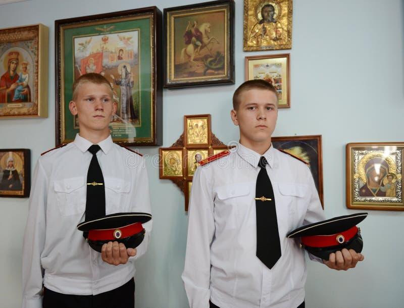Militärschule Kadett-Novocherkassks Suvorov stockbilder