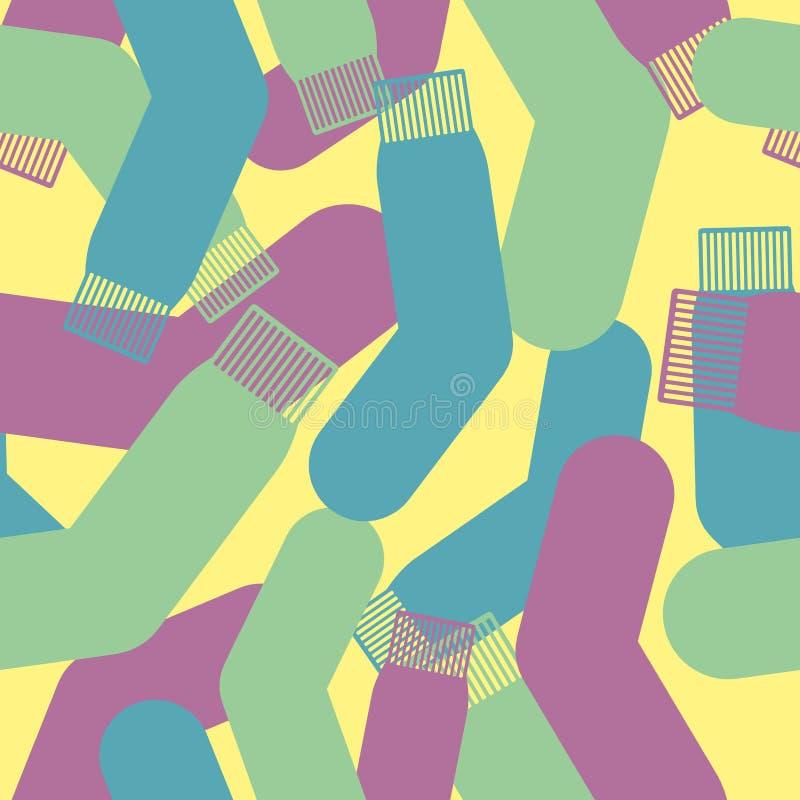 Militärsockatextur Sömlös modell för kamouflagearmé stock illustrationer