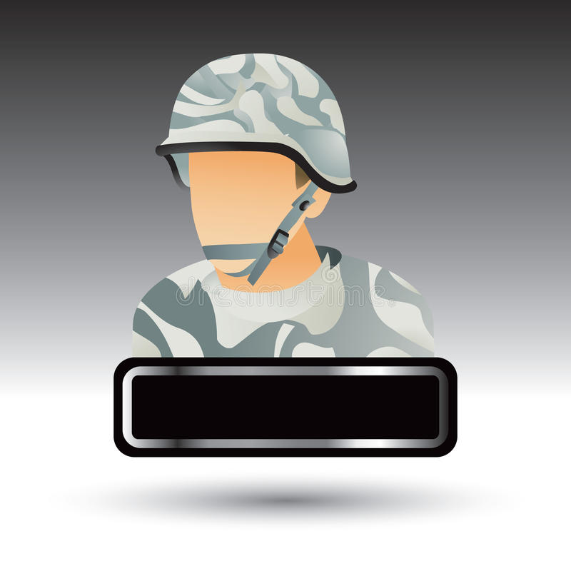 Militärsoldattypenschild vektor abbildung