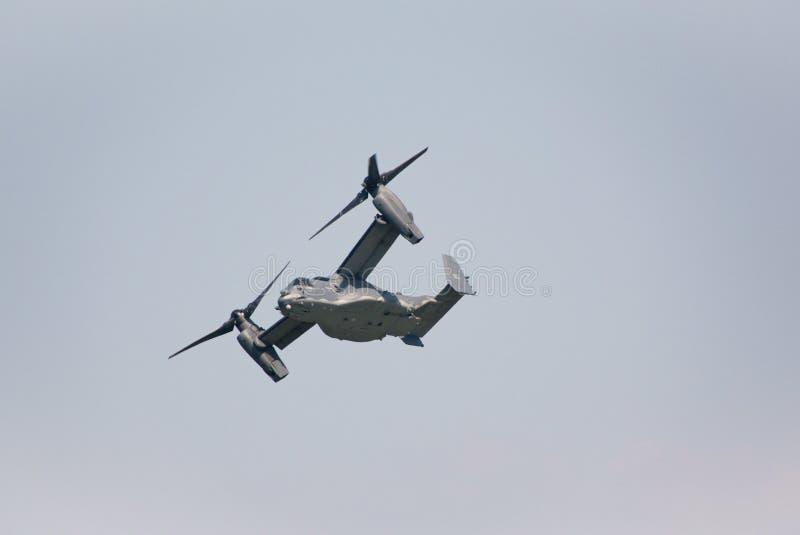 Militärt flygplan för Klocka Boeing V-22 fiskgjuse arkivfoto