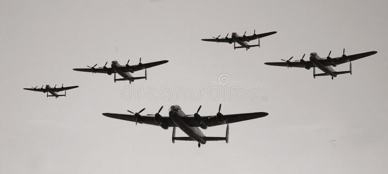 Militärt flygplan för tappning royaltyfria foton
