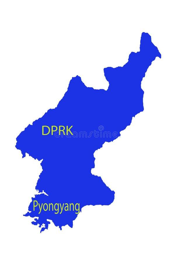 Militärt kärn- för Pyongyang Nordkorea informationsspråk stock illustrationer