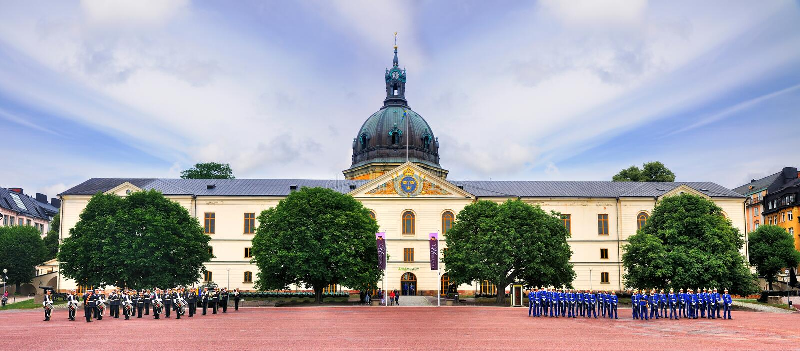 Militärt museum av Stockholm, Sverige royaltyfri fotografi